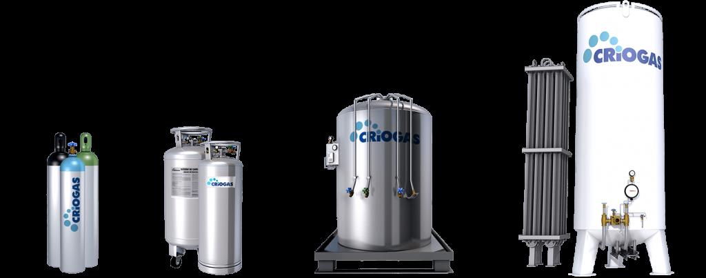 Medios de suministro de gases industriales